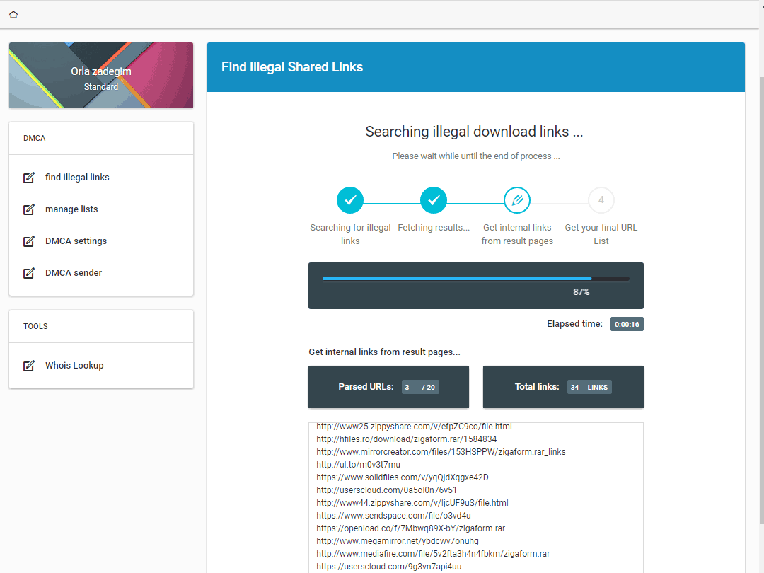 DMCA Takedown Notice Generator - DMCA Sender